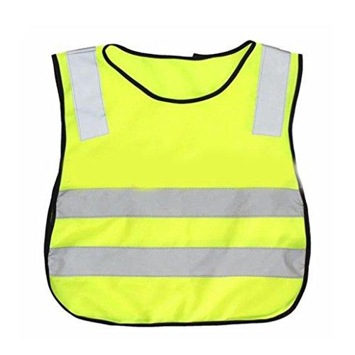 starlit Kids Safety Vest High Visability Reflective Vest for School Sanitation Worker
