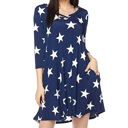 Camiseta de manga corta cruzada con cinco puntos de Five Point Star y mini  vestido con 89cfd51e029d