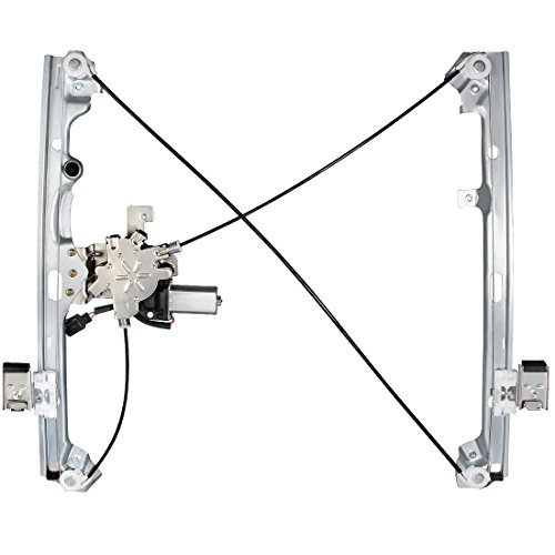 Power Window Regulator and Motor Assembly for Chevy Avalanche Silverado Suburban Tahoe, GMC Yukon Sierra, Cadillac Escalade, Front Left Driver Side.