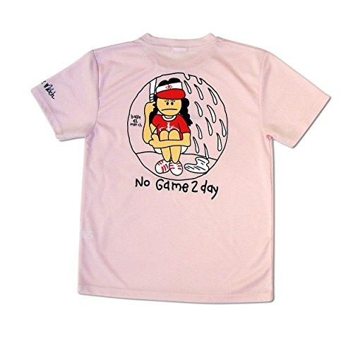 アノイ蘇生する警察署Ball de Match(バルデマッチ) レディスTシャツ No Game 2Day BM-JW1526 ベビーピンク L