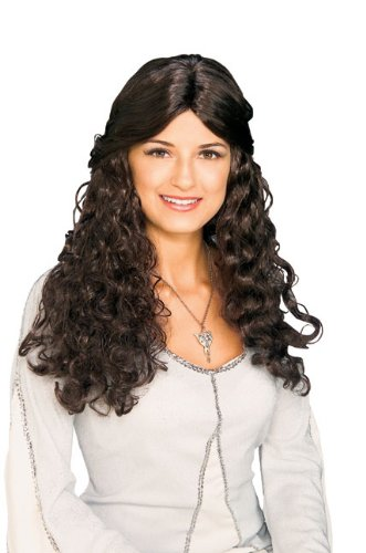 Arwen Dress Adult Costumes (Rubie's Costume Lord Of The Rings Arwen Wig, Brown, One Size)