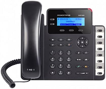 Grandstream Networks GXP1628 - Teléfono (Teléfono DECT, Altavoz, 500 entradas, Negro)