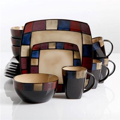 Gibson Soho Lounge Mosaic 16 Piece Dinnerware Set