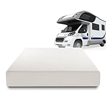Image of Zinus Deluxe Memory Foam 10 Inch RV / Camper / Trailer / Truck Mattress, Short Queen Bed Pads & Mattresses