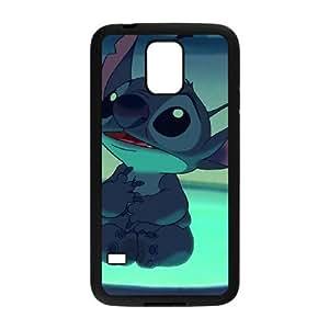 Samsung Galaxy S5 Cell Phone Case Black Lilo and Stitch Stich Has a Glitch JSK877345