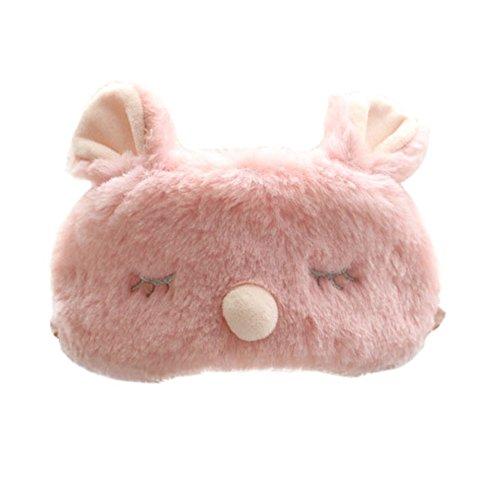 Bunny Honey Child Costume - Animal Eye Cover Sleep Masks for Kids Girls Plush Padded Blindfold Home Bunny