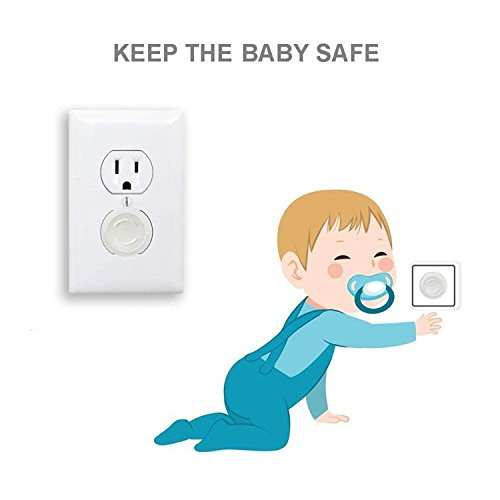 Outlet Plug Covers- Racol 30 Pack Clear Child Proof Electrical Protector Safety Caps with 6 Pack Safety Corner Guards | Corner Covers Baby Safety | Table & Furniture Corner Protectors Corner by Racol (Image #4)