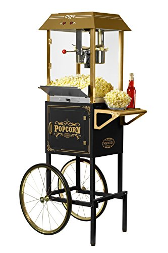 Nostalgia CCP1000BLK Vintage 10-Ounce Commercial Popcorn Cart - 59 Inches Tall by Nostalgia