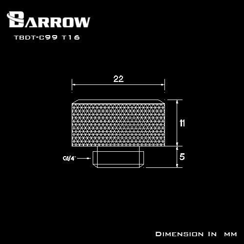 Silver TBX2D-02-Silver Barrow G1//4 Male to Male Anti-Twist Rotary Adaptor Fitting