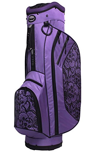 Golf Womens Bag - Hot-Z Golf 2017 Ladies 2.5 Cart Lace Purple/Black Bag