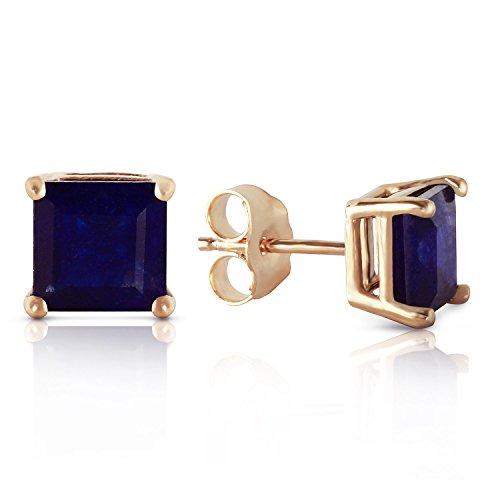 2.9 Carat 14K Solid Gold My Last Love Sapphire Earrings