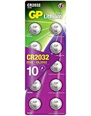 GP Extra Lithium batterijen CR2032 knoopcel batterij 3V - 10 pack