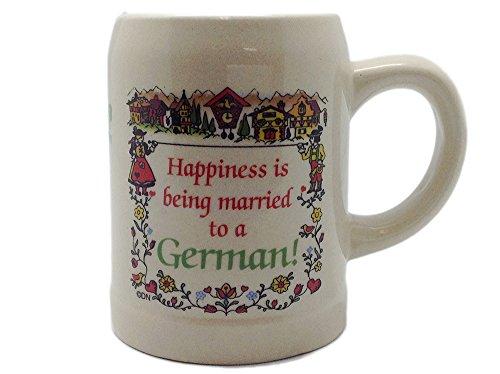 "Ceramic""Happiness Married To A German"" Coffee Mug"