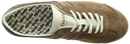 Gola Hombres Bullet Suede Fashion Sneaker Tabaco / Tabaco / Blanco Roto