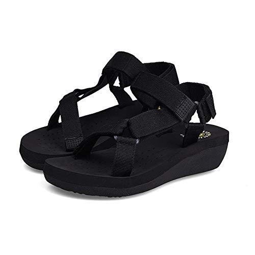 Antideslizantes Zapatos Y para Negro Sandalias Zapatillas Verano De Transpirables Casual Transpirables Playa Zapatillas De Mujer n7Axz