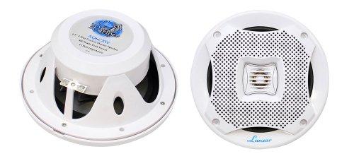 "(6.5"" Dual Waterproof Marine Speakers - 400W 4Ohm Outdoor Car/Boat Radio Stereo Speakers Waterproof/Weather Proof Marine Stereo Speakers System Pair - Mounting Kit Speaker Wire, Grill- Lanzar AQ6CXW)"