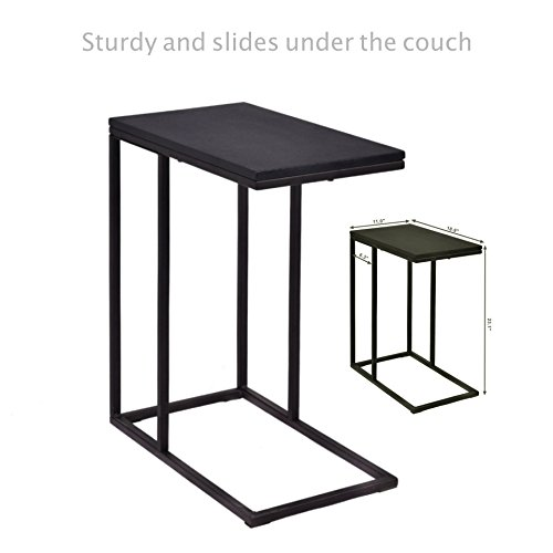 Sofa Side End Coffee Table Laptop Stand PC Desk Study TV Snack Solid Iron Frame Ottoman Home Office Decor Furniture #1818