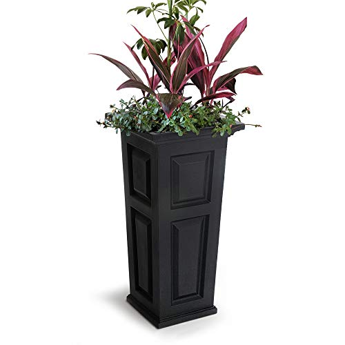 t Tall Planter, 15.5 by 15.5 by 32-Inch, Black ()