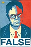 """""""False"""" Dwight Schrute The Office Poster Print (12 x 18 inch, Rolled)"""