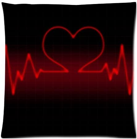 Amazon Com Abstract Heartbeat Love Heart Red And Black Beautiful Wallpaper Zippered Pillow Cases Cover Cushion Case 18x18 Inch Home Kitchen