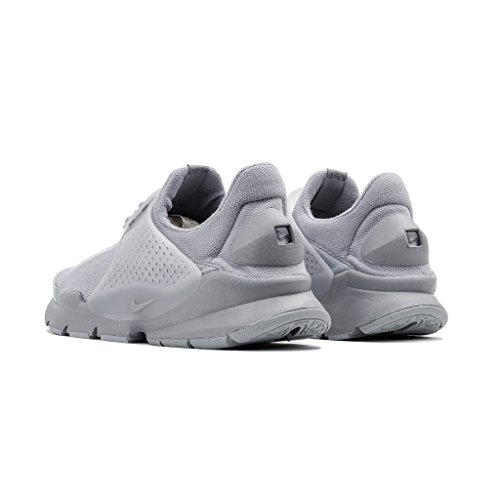 Calcetines Nike Para Hombre Calcetines Para Correr Con Lobo Gris / Lobo Gris-blanco