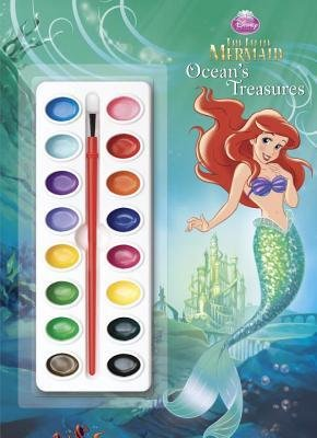 [ Ocean's Treasures [With Paint Brush and Paint] (Disney's the Little Mermaid) ] By Rosebrough, Ellen ( Author ) [ 2013 ) [ Paperback ]