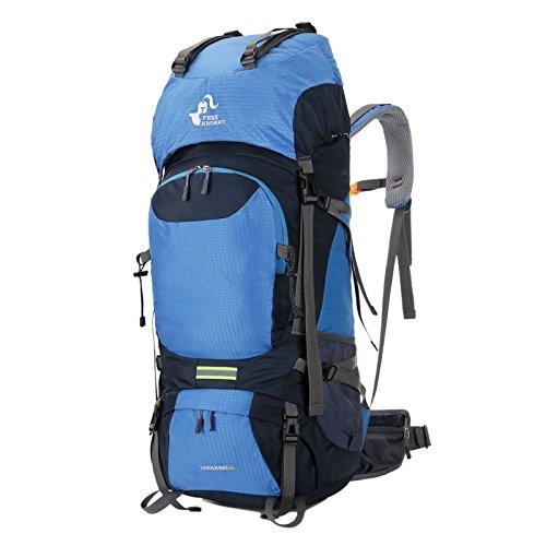リクサダ フリーナイト FK0399 60L容量防水バックパック ブルー   B07J1N3BFR