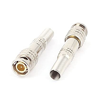 Adaptador de conector macho primavera Fin de soldadura Video Cable Coaxial RF BNC DealMux 2pcs
