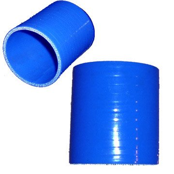 Blue 4.5 Silicone Straight Coupler