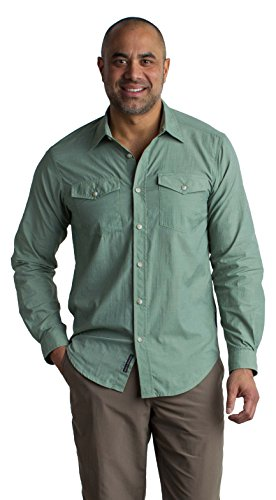 Carry On Long Sleeve - ExOfficio Men's Syros Lightweight Long-Sleeve Shirt, Dusty Sage, X-Large