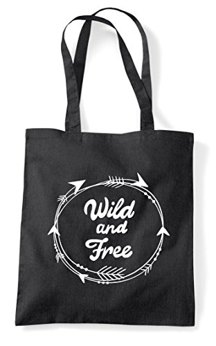 Shopper Black And Free Circle Wild Statement Arrow Tote Bag q0zn68wn