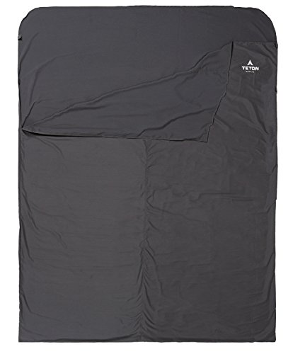 TETON Sports Sleeping Bag Liner for staying warm camping in a tent with tips to stay warm when camping