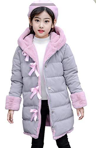 Leeharu Meisjesjas, lang, katoen, voor meisjes, kinderen, dik, comfortabel, met capuchon