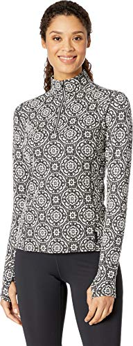Tapestry Tee - Hot Chillys Women's Jacquard Zip-Tee Tapestry Large