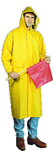 Mutual Industries 14506-0-5 PVC/Polyester Raincoat with D...