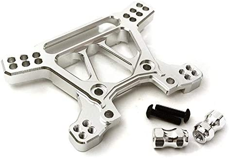 Integy RC Model Hop-ups C28739SILVER Billet Machined Alloy Front Shock Tower for Traxxas 1//10 Rustler 4X4