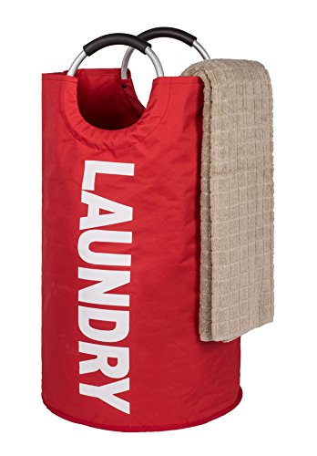 TOMHOM Large Laundry Basket Collapsible Fabric Laundry Hamper Foldable Clothes Bag Folding Washing Bin Laundry Set 5 colors Available (Red)