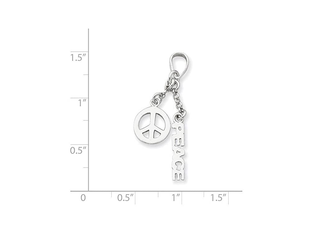 Lovely Sterling Silver Polished Peace Pendant Qp1819 Fine Jewelry