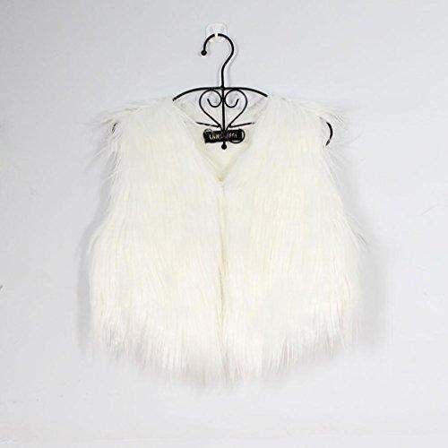 de chalecos Blanco de Cinnamou de mangas señoras las mujeres la de chaqueta señoras piel las de Mujer las Chaleco punto de sintética la Outwear Abrigo Chaleco sin Chaleco qP5Rp