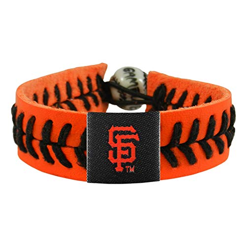 (MLB San Francisco Giants Orange Team Color Baseball Bracelet)