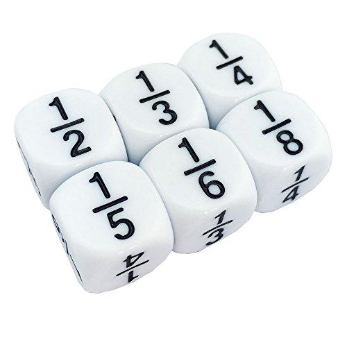 6 Fraction dice (Fraction Dice Set)