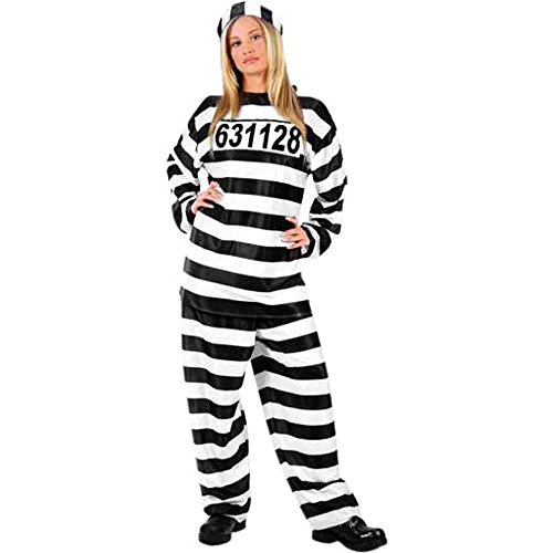 Halloween Convict Costumes (Adult Jailhouse Honey Costume, One)