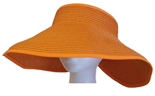 fashion-wide-brim-visor-style-straw-summer-beach-hat-adjustable-orange