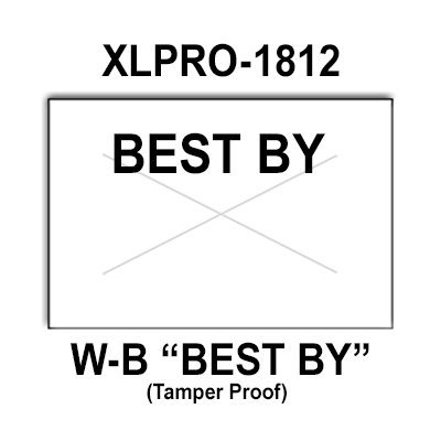 288,000 XLPro compatible 1812 ''Best By'' White General Purpose Labels to fit the XLPRO-18B Price Guns. Full Case, and includes 8 ink rollers. by Infinity Labels