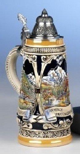 Garmisch Linderhof Oberammergau LE German Beer Stein .5L Made in Germany New Mug
