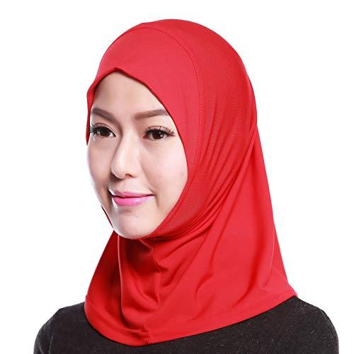 4Pcs Islamic Turban Head Wear Hat Underscarf Hijab Full Cover Muslim Cotton Hijab Cap in 4 Colors (D) by HANYIMIDOO (Image #3)