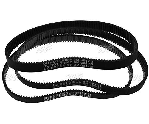 3x 384mm Length Drive Belt Revolution HTD 384-3M-12 For Electric Pulse Scooter