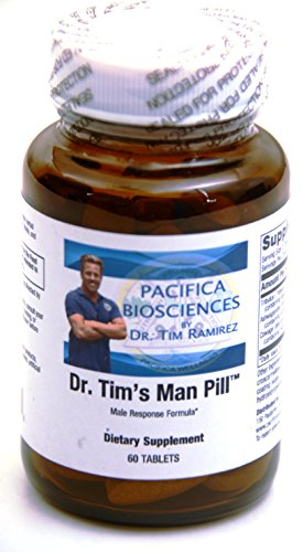 DR. TIM'S MAN PILL® formulated by DR. TIM RAMIREZ, for Pacifica BioSciences, provides premium Ayurvedic herbal extract support for healthy male sexual function, libido, and vitality
