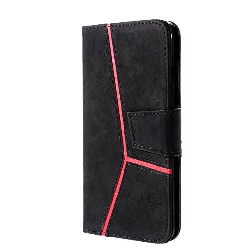 CUSKING iPhone X/iPhone XS 対応 ケース, 高級 手帳型 PUレザー ケース, Apple iPhone X/iPhone XS 衝撃吸収 保護ケース 財布型 ケース スタンド機能 カード ポケット 付き, ブラック
