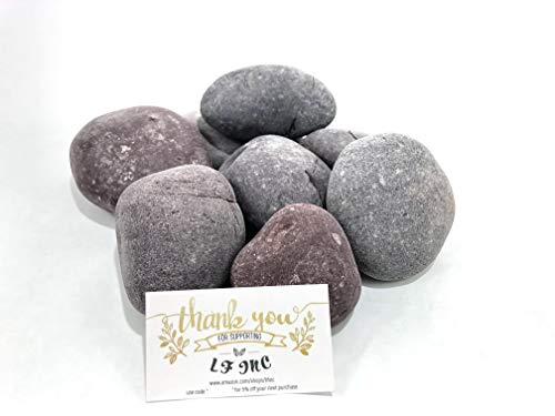 LF Inc. 50 Lb. Premium Large Red Mexican Beach Pebbles 3-5 inches, Decor, Garden, Landscape (Red Garden Rocks)